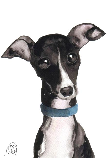 Art: ITALIAN GREYHOUND ital101 by Artist Dawn Barker