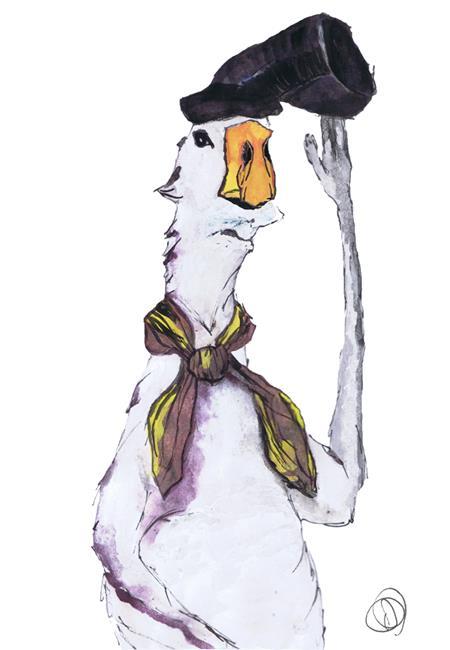 Art: DUCK! duck367 by Artist Dawn Barker