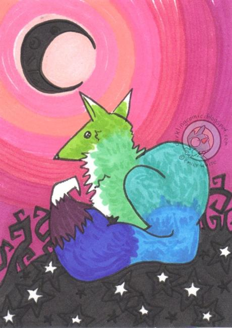Art: Black Moon by Artist Emily J White