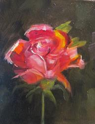 Art: Rose No.7 by Artist Delilah Smith