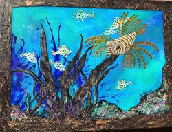 Art: LIONFISH 18x24 by Artist Ke Robinson