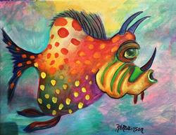 Art: 1647 Reef Fish  by Artist Ke Robinson
