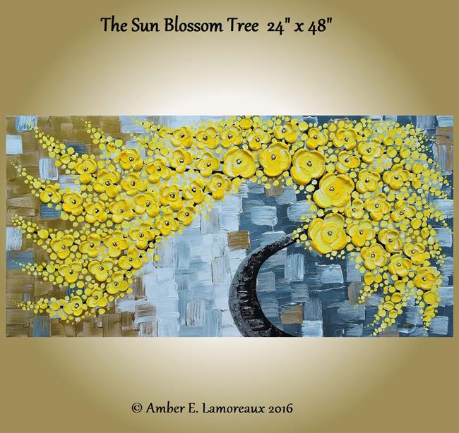 Art: The Sun Blossom Tree (Sold) by Artist Amber Elizabeth Lamoreaux