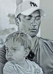 Art: Father and Son by Artist Mark Satchwill