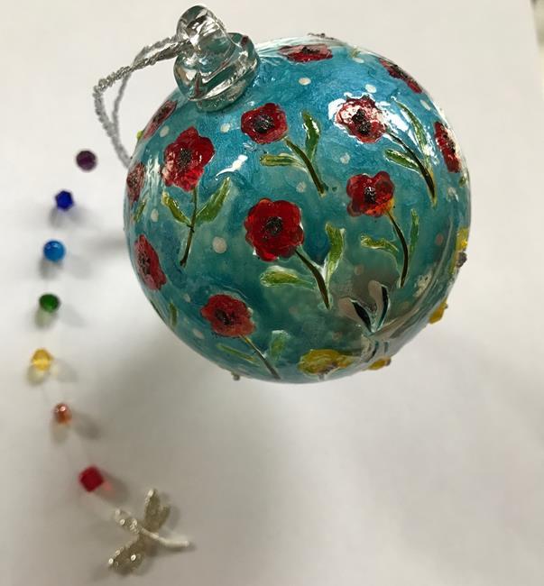 Art: Karens Healing Dragonfly Ball by Artist Rebecca M Ronesi-Gutierrez