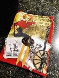 Art: Cowgirl Purse   Front by Artist Vicky Helms