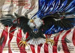 Art: Opposition Wars by Artist Alma Lee
