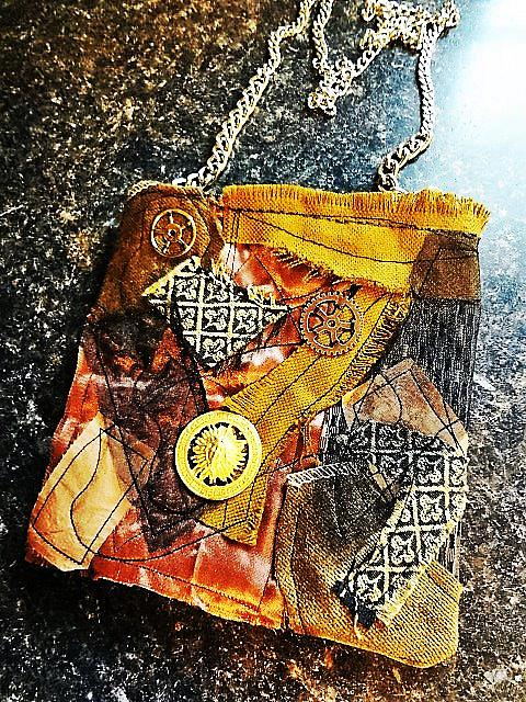 Art: Boho Purse #4   Front by Artist Vicky Helms