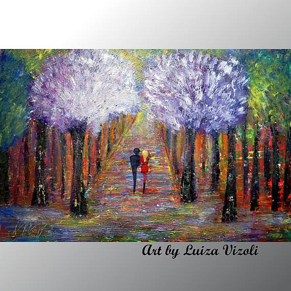 Art: OUR LILAC TREES by Artist LUIZA VIZOLI