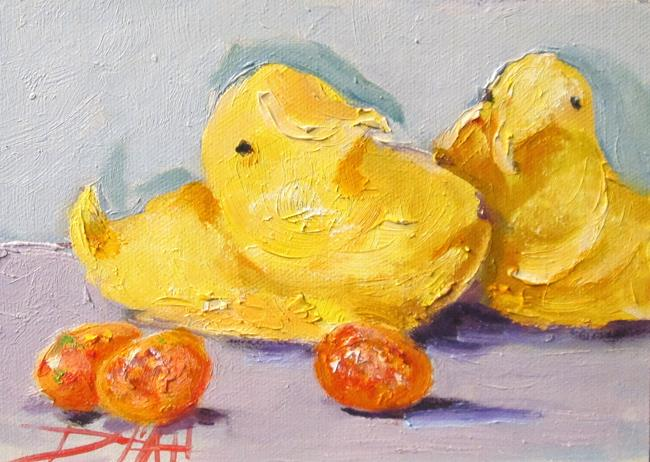 Art: Peeps and Candy Eggs by Artist Delilah Smith