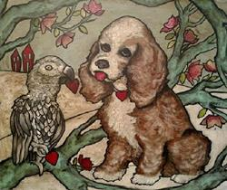 Art: Feathers and Fur Friends by Artist Chris Jeanguenat