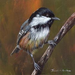 Art: Coal Tit No 2 by Artist Janet M Graham