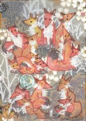 Art: A Skulk of Foxes by Artist Emily J White
