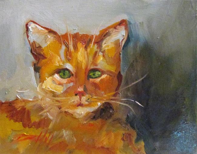 Art: Orange Cat by Artist Delilah Smith