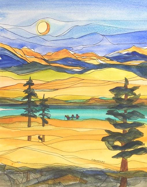 Art: High Meadow (sold) by Artist Kathy Crawshay