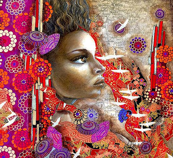 Art: I'll Fly Away by Artist Alma Lee