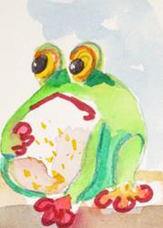 Art: Fat Frog by Artist Delilah Smith