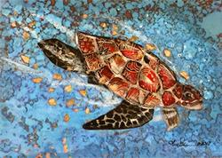 Art: Sea Turtle by Artist Alma Lee