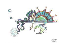 Art: Moody Mermaid by Artist Emily J White