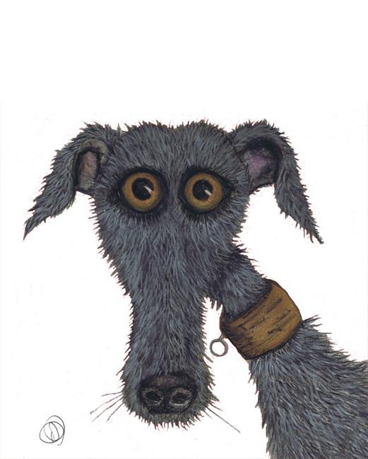 Art: GREYHOUND g239 by Artist Dawn Barker