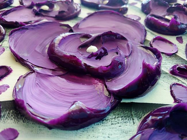 Art: Purple Poetry (Sold) by Artist Amber Elizabeth Lamoreaux