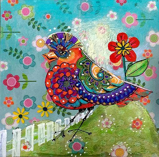 Art: Quirky Bird by Artist Alma Lee
