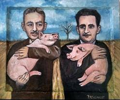 Art: Animal Web: A Tribute to EB White and George Orwell by Artist Patience