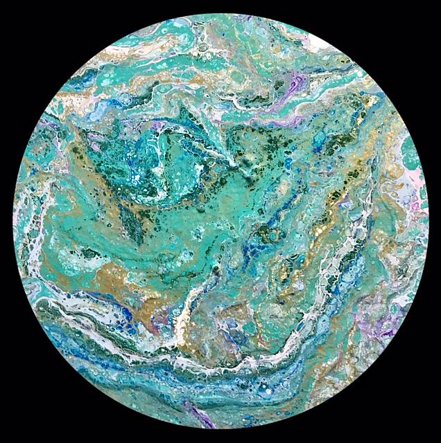 Art: Abstract Disc 7 by Artist Ulrike 'Ricky' Martin