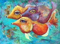 Art: 3 Bellow Fish 1665 by Artist Ke Robinson