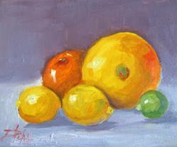 Art: Grapefruit,Orange,Lemons,and Lime by Artist Delilah Smith