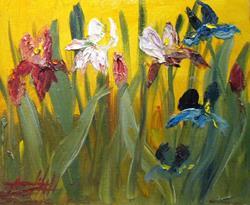 Art: Iris-sold by Artist Delilah Smith