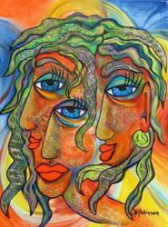 Art: Hippy Chicks by Artist Ke Robinson
