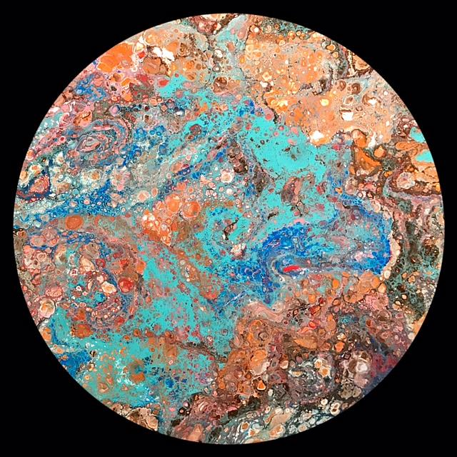 Art: Abstract Disc 11 by Artist Ulrike 'Ricky' Martin
