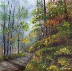 Art: Autumn Woodlands by Artist Janet M Graham