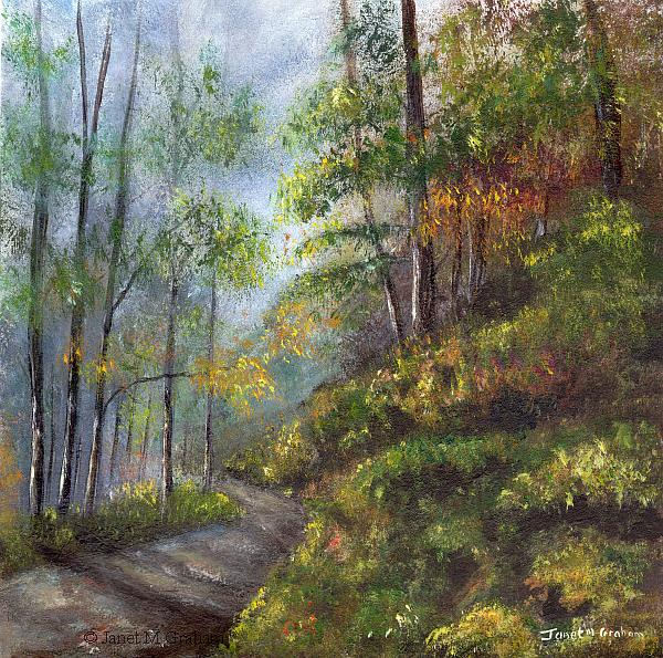 Art: Autumn Woodlands by Artist Janet M Graham