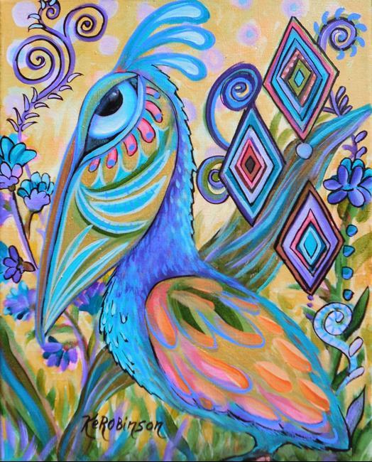 Art: Wild Pelican #1324 by Artist Ke Robinson