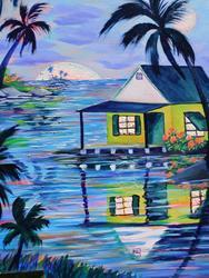 Art: Island House #S1550 by Artist Ke Robinson