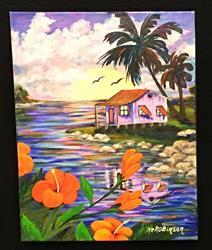 Art: Island House 693 by Artist Ke Robinson