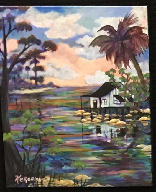 Art: Island House 693a by Artist Ke Robinson