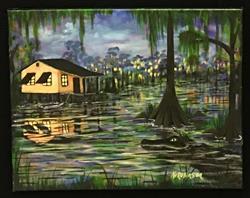 Art: Swamp House 1693sd by Artist Ke Robinson