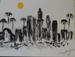 Art: LA scene by Artist Nancy Denommee