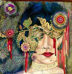 Art: Once I Sleep (original) by Artist Alma Lee
