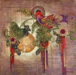 Art: Two Birds in Paradise by Artist Alma Lee