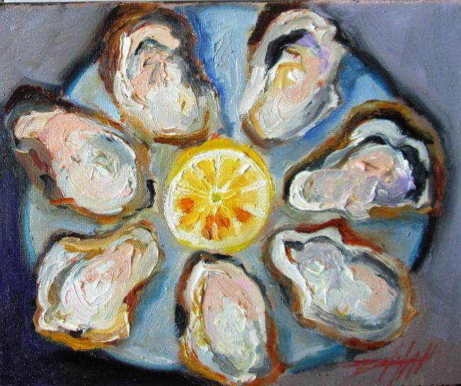 Art: Oysters on the Half Shell-sold by Artist Delilah Smith