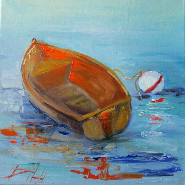 Art: Row Boat-sold by Artist Delilah Smith