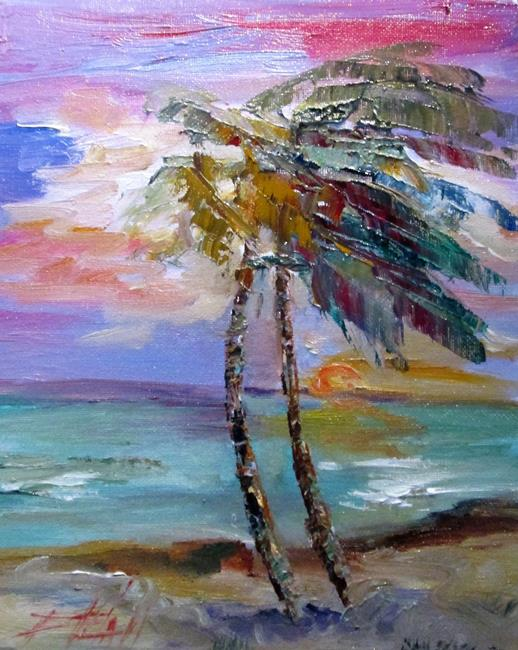 Art: Tropical Sunset=sold by Artist Delilah Smith
