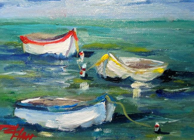 Art: Row Boats Floating by Artist Delilah Smith
