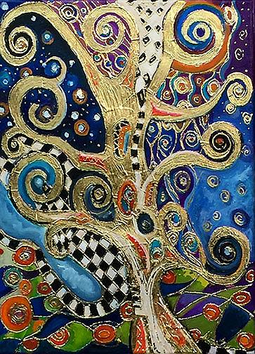 Art: The Changing Seasons of Klimt by Artist Alma Lee