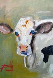 Art: Cow No.12 by Artist Delilah Smith