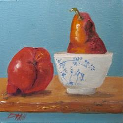 Art: Red Pears Still Life by Artist Delilah Smith